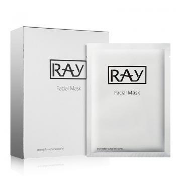 泰国RAY 银色补水保湿控油晒后修复天然蚕丝面膜 10片/盒