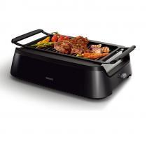 飛利浦家用烤牛排機全自動煎烤電烤盤家用電烤架BBQ燒烤HD6371